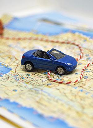 Auto huren vakantie: kaart