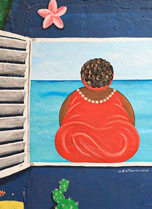 Doen Willemstad, Curaçao: dikke dame