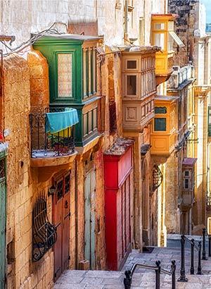 Badplaatsen Malta: Valletta