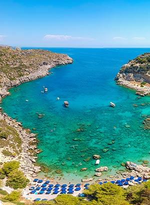 Mooiste stranden Rhodos: Anthony Quinn