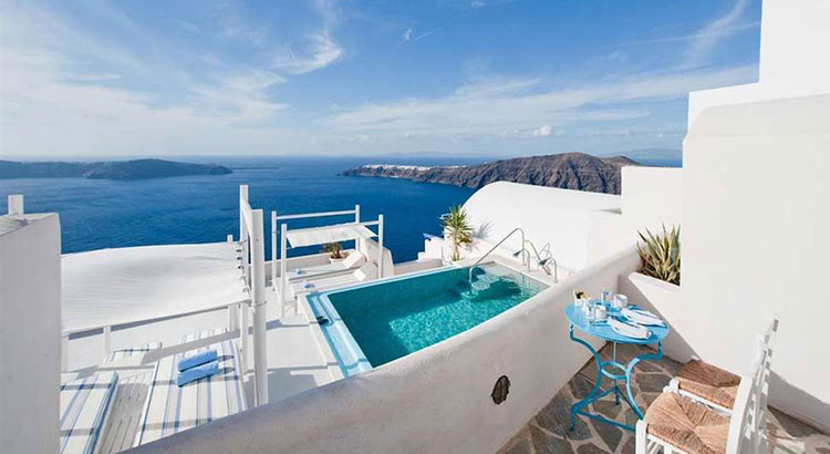 De mooiste boutique hotels op Santorini