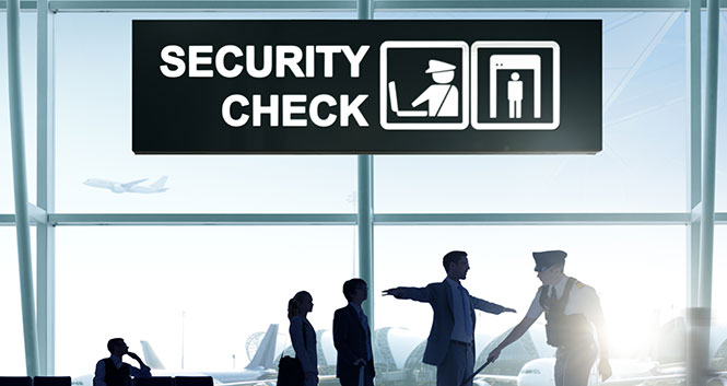 Security check luchthaven