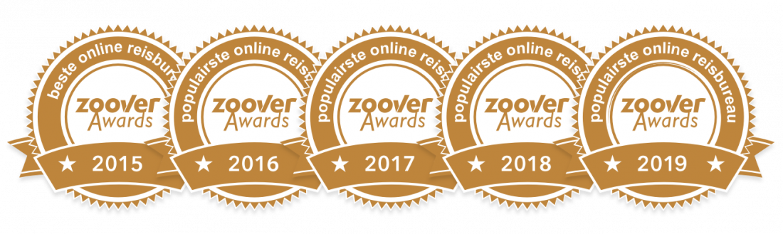Zoover Awards: populairste en beste reisbureau